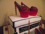 carrot and ginger shoe boxcake