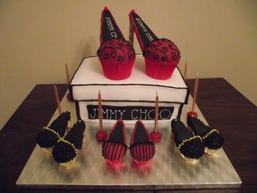jimmy choo shoe box cake