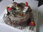 boozy robin cake