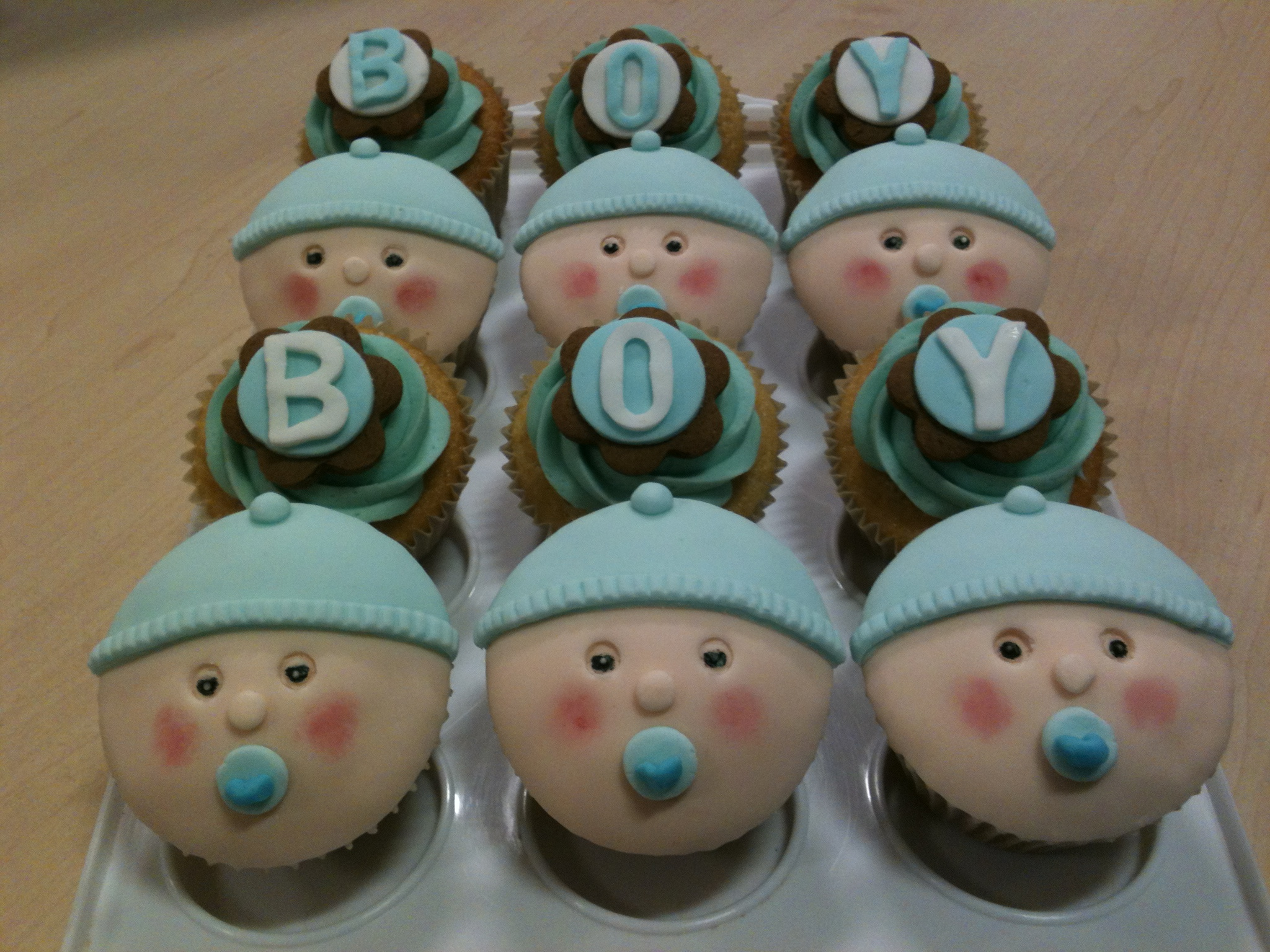 Baby Boy Cupcakes Gloverly Cupcakes