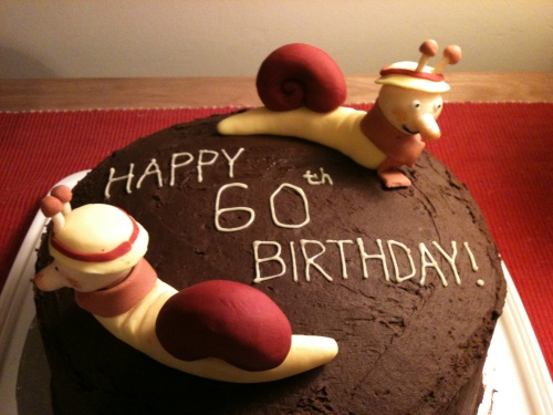 brian the snail cake