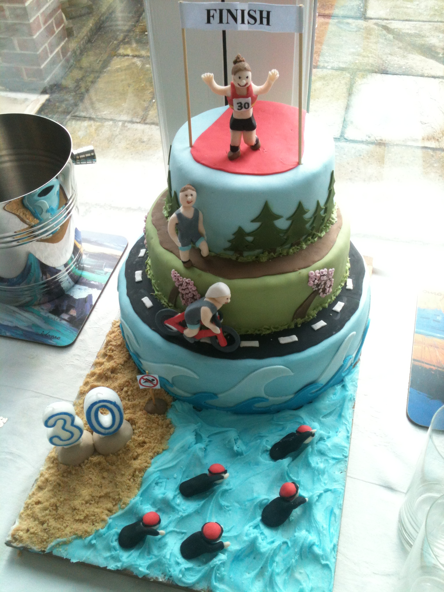 30th Birthday Triathlon Cake