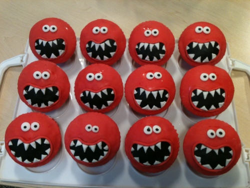 red nose cupcakes