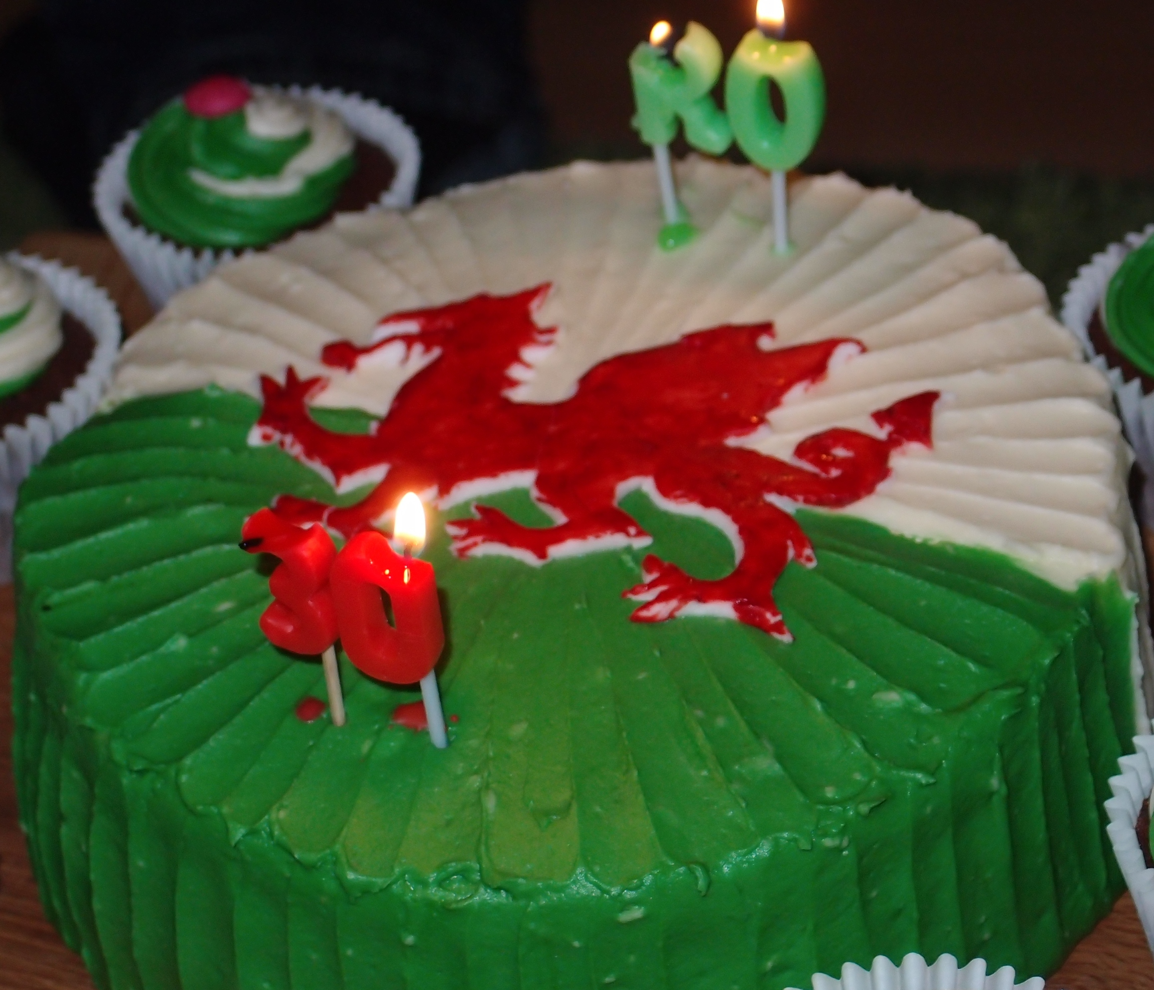 Welsh Birthday Cake Gloverly Cupcakes