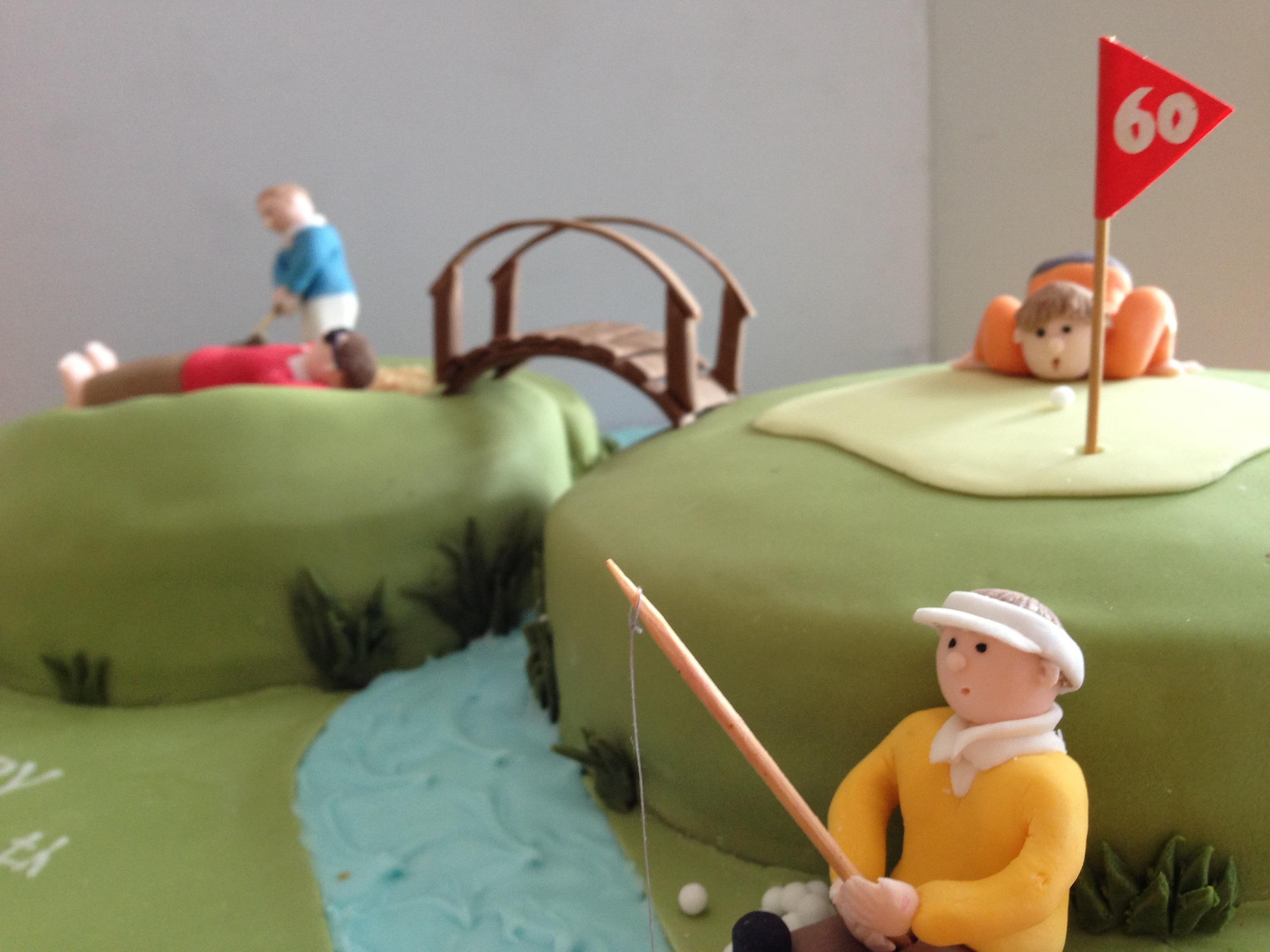 Incredible Golf Cake Gloverly Cupcakes Birthday Cards Printable Opercafe Filternl
