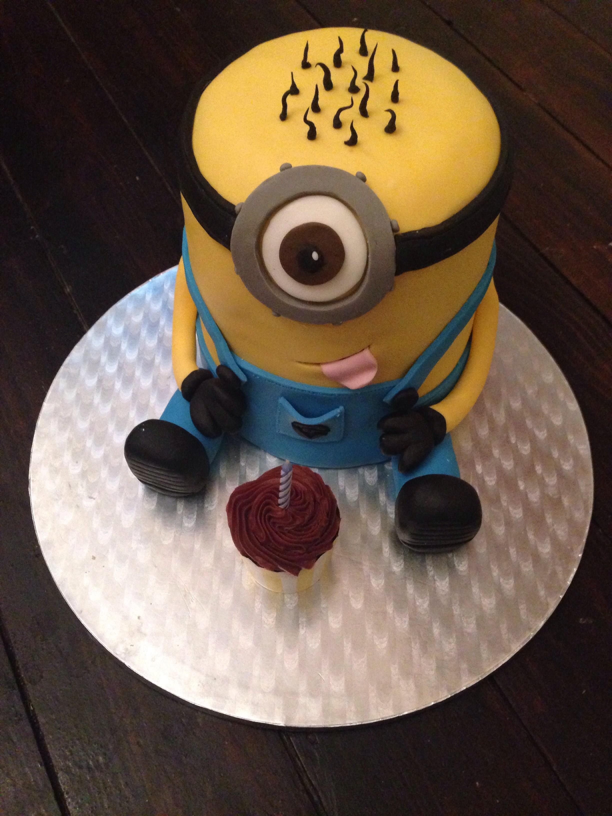 Minion Cake Gloverly Cupcakes