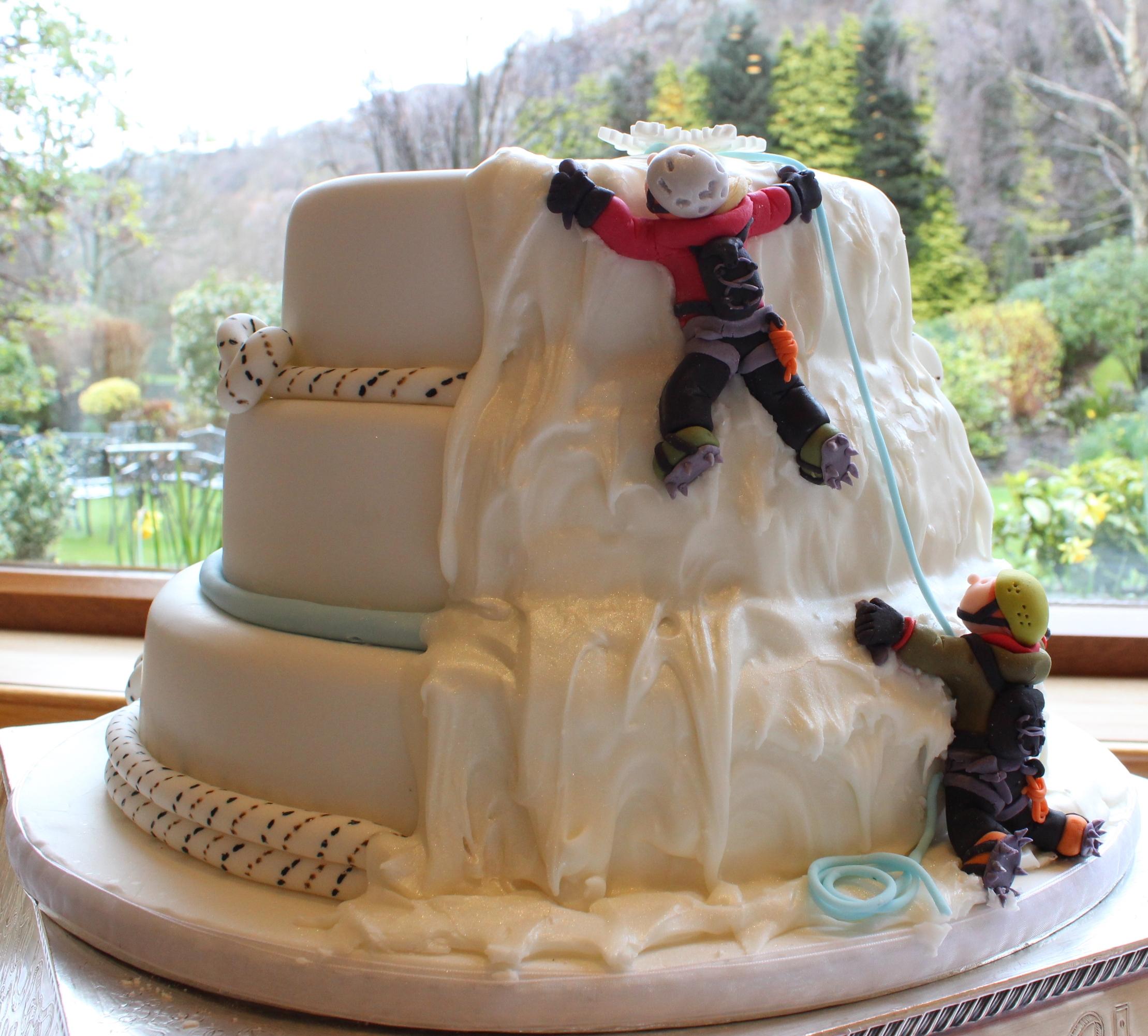 Cake Designs Rock Climbing : Ice Climbing Wedding Cake Gloverly Cupcakes