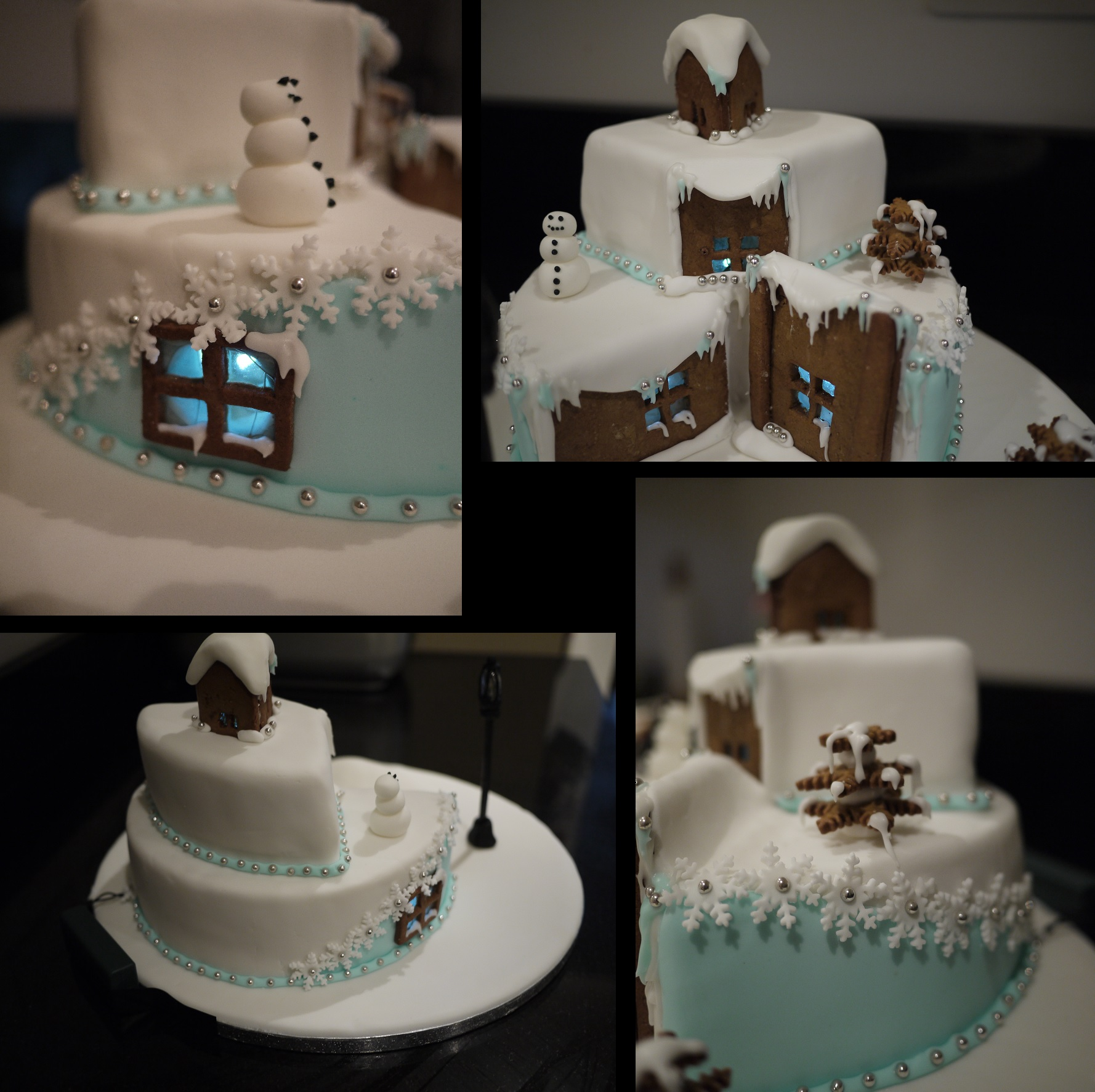 I Began To Put The Finishing Touches To The Cake Using Various Bits Of Fondant Fondant Snowflakes Royal Icing And Silver Balls As In The Pictures
