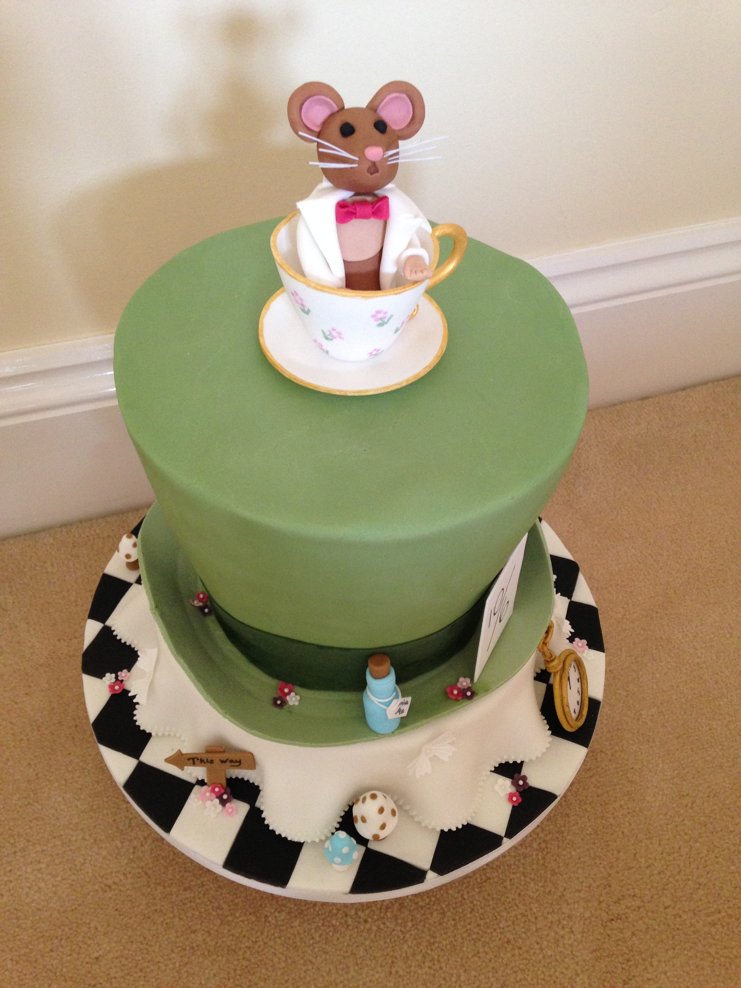 Mad Hatters Tea Party Cake Gloverly Cupcakes