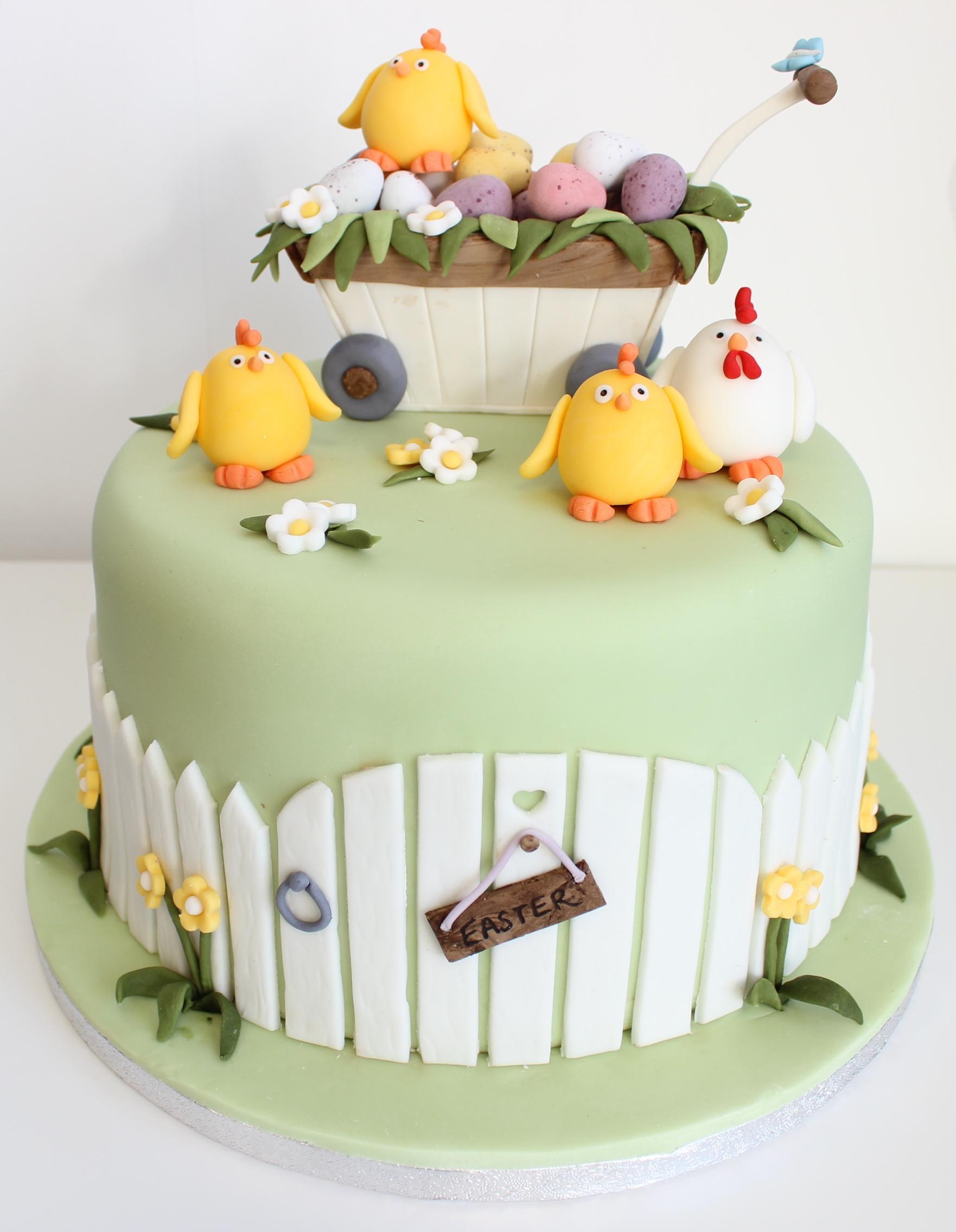 Easter Garden Cake | Gloverly Cupcakes
