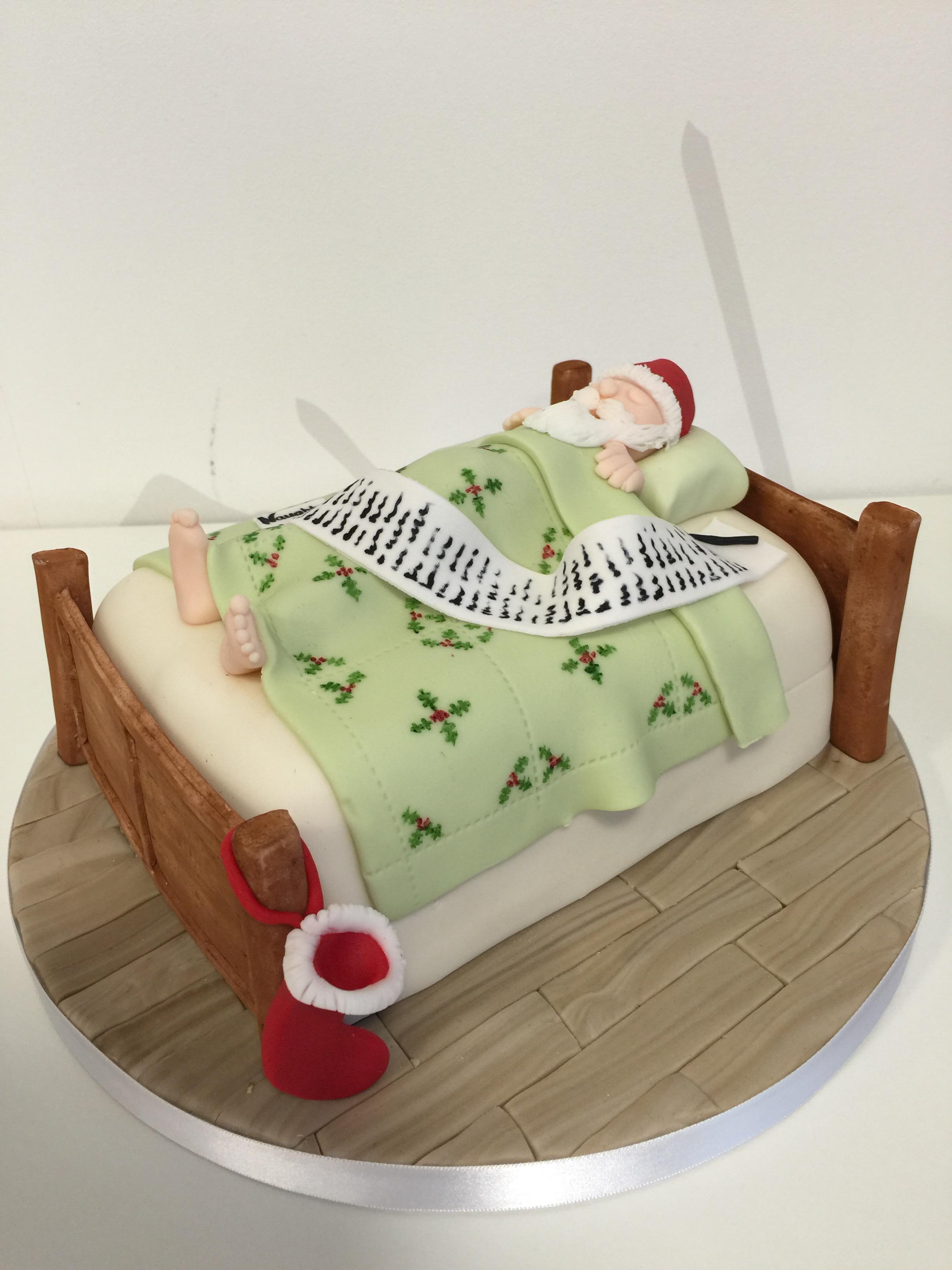 How to make a father christmas cake decoration - I Decided That I Would Offer To Make A Christmas Cake I Had No Idea How