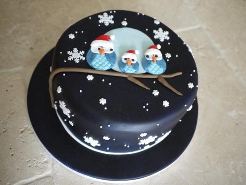 Owl Christmas Cake