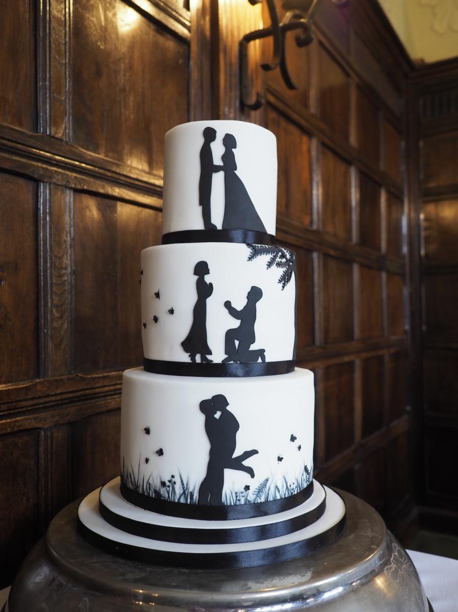 Silhouette Wedding Cake Gloverly Cupcakes
